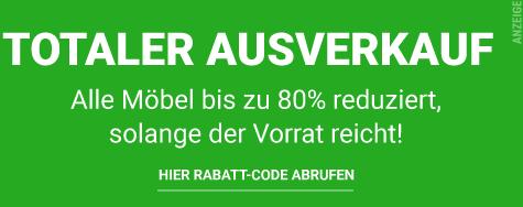 Möbel-Rabatt: Ausverkauf + bis zu 80% Rabatt auf alle Möbel